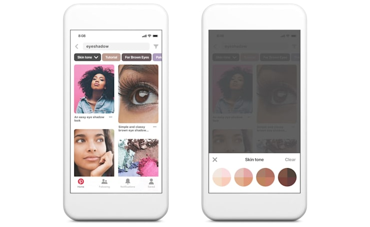 Pinterest's diverse workforce helped it design a better skin tone filter