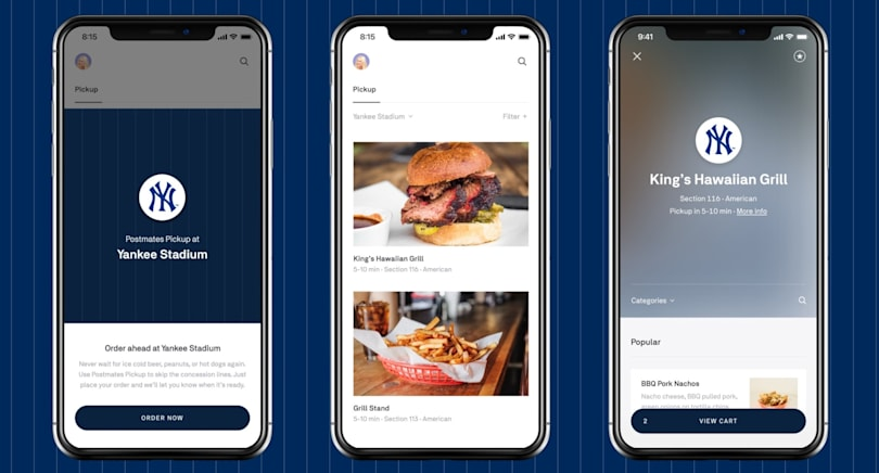 You can now order Postmates at Yankee Stadium