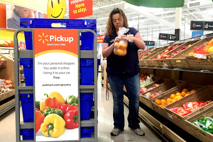 Walmart's online grocery shopping service will now accept EBT