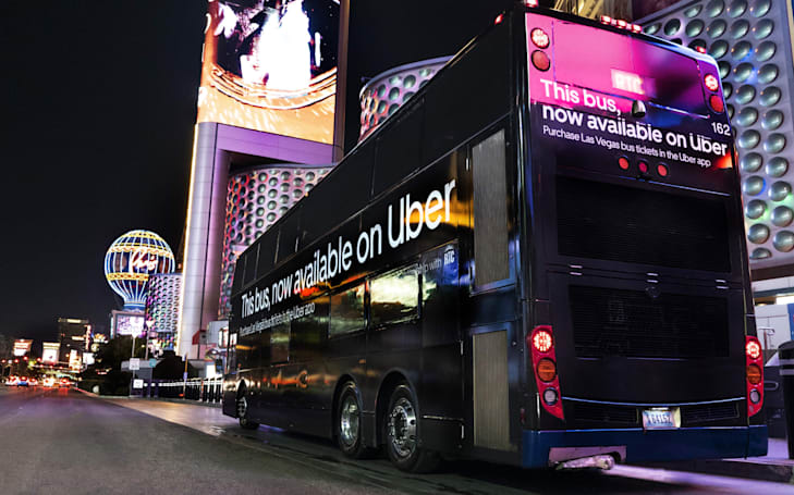 Uber is adding public transit tickets to its app in Las Vegas