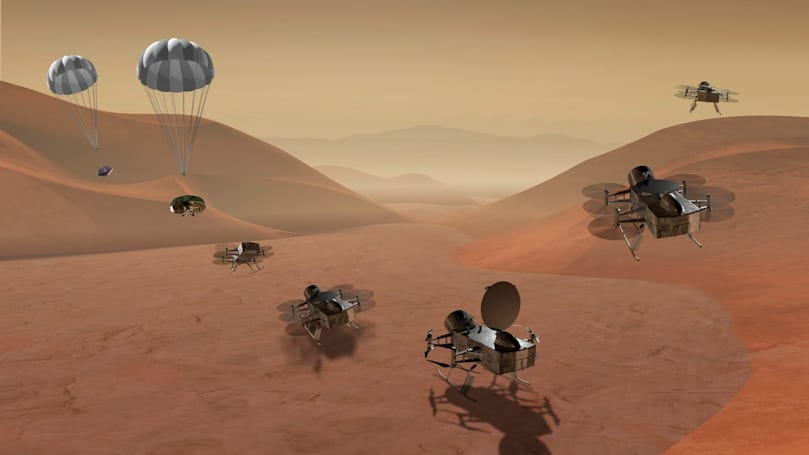 NASA's Dragonfly mission is sending an eight-rotor drone to Titan