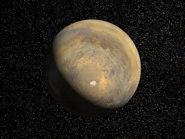 Swiftly-falling snowstorms may fall at night on Mars