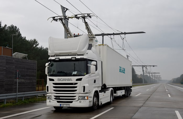 Germany tests its first 'electric highway' for trucks