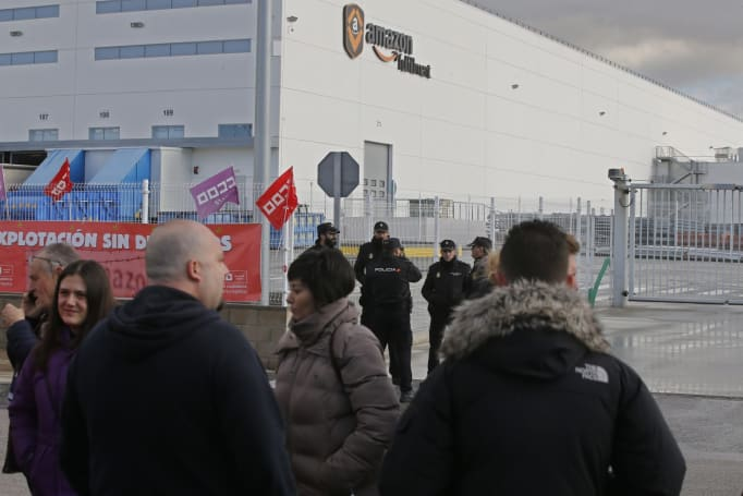 Amazon workers held strikes across Europe on Black Friday