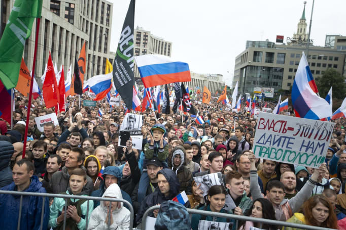 Russia demands Google stop advertising 'illegal' protests on YouTube