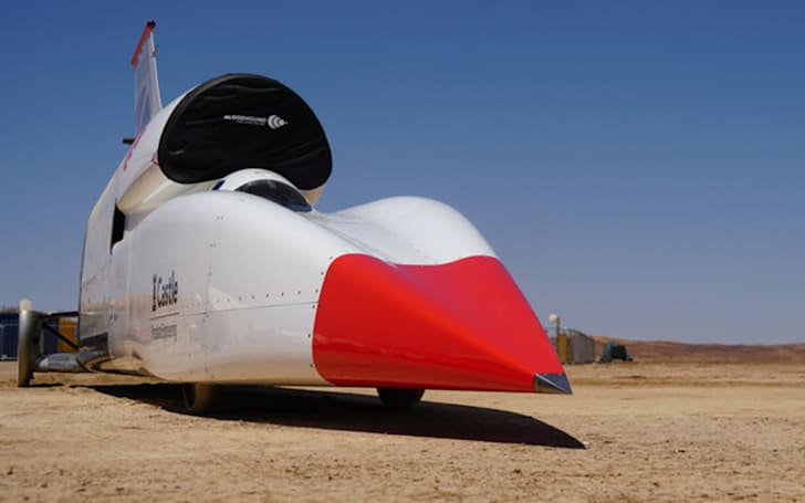 Bloodhound's supersonic car hit 628MPH in under a minute