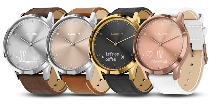 Garmin gives its Vivomove smartwatch more style with four new colors