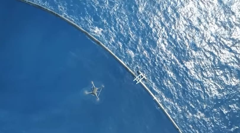 Giant plastic-collecting 'pool noodle' breaks apart in the Pacific
