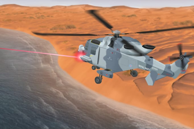 The UK's high-energy lasers could zap drones and missiles out of the sky