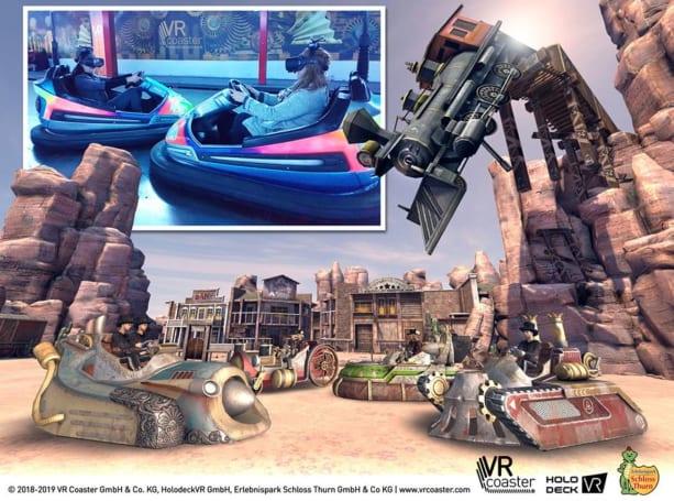 VR turns bumper cars into retro-futuristic steampunk tanks