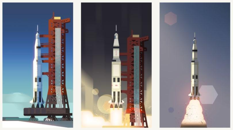 The latest Google Doodle celebrates the Apollo 11 anniversary