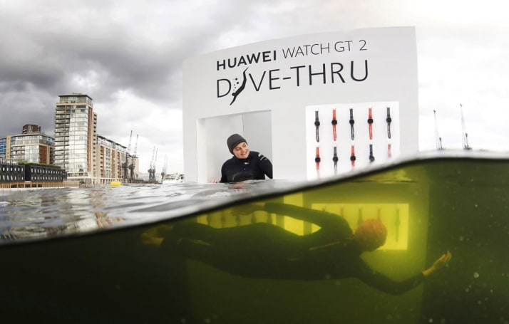 Huawei wants people to dive into London's River Thames for a Watch GT 2