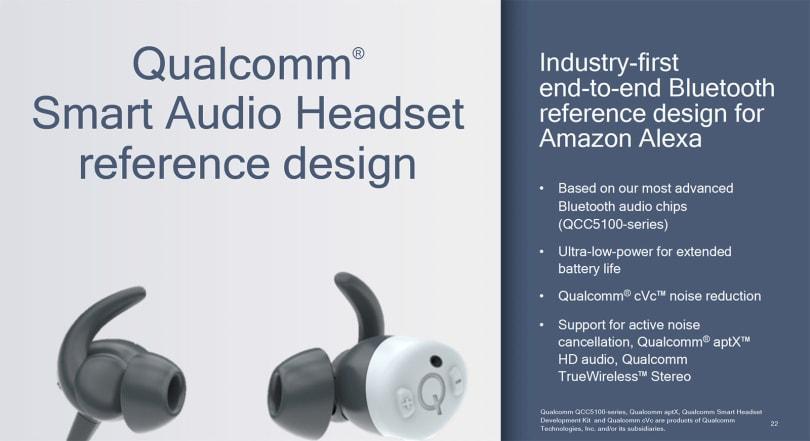 高通带来兼容 Alexa 的蓝牙耳机参考设计