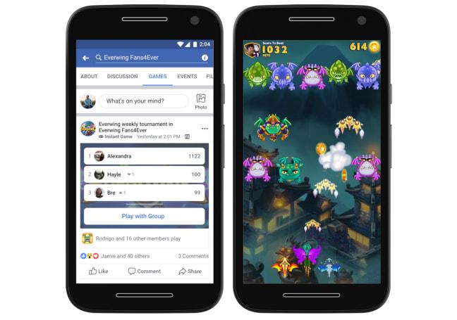 Facebook 把即时游戏功能带到 Groups 和 Lite 应用