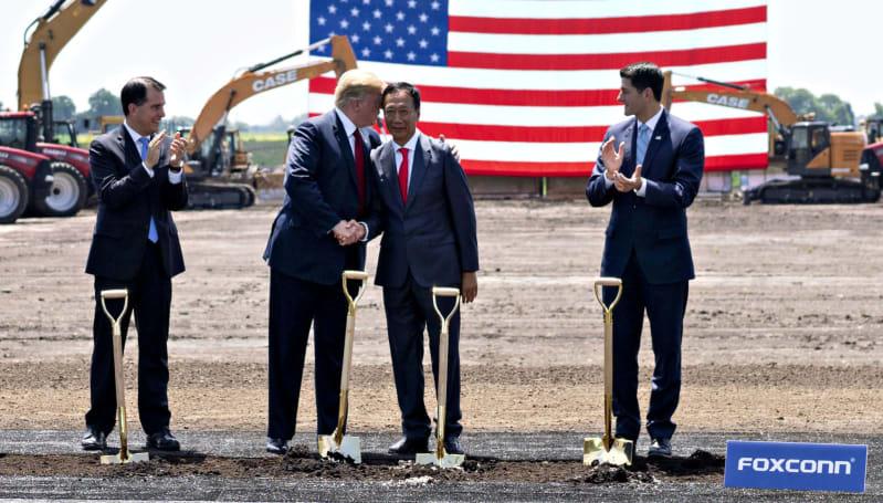 在與川普會談後,富士康承諾將會繼續於威斯康辛州興建工廠
