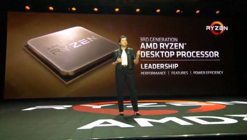 AMD 的第三代 Ryzen 桌機處理器將在 2019 年中來到