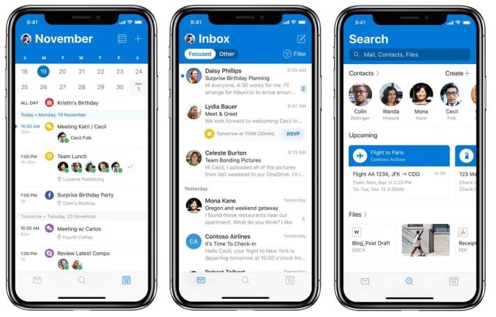 微軟為 iOS 的 Outlook 換上了全新的外觀