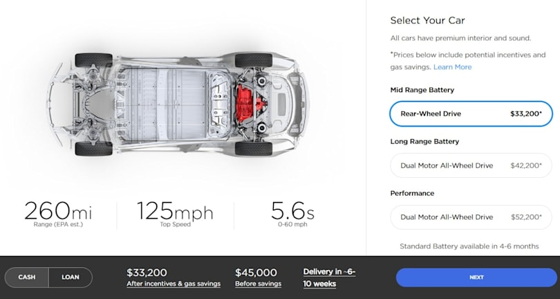 Now you can buy a Model 3 for $45,000 before incentives