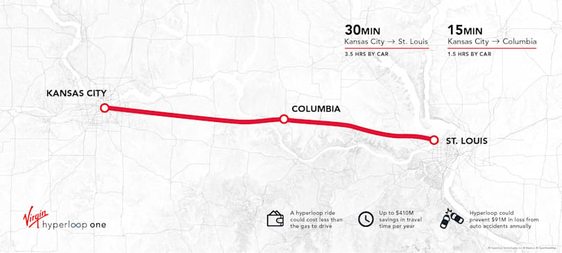 Hyperloop One says Missouri route is economically viable