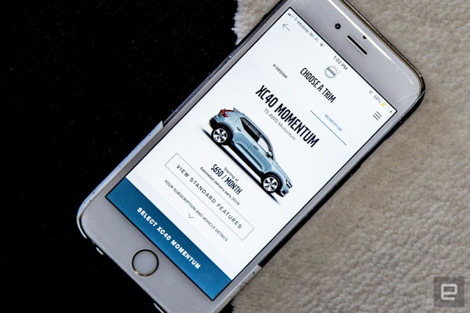 Volvo is betting big on mobile to push its car subscription service