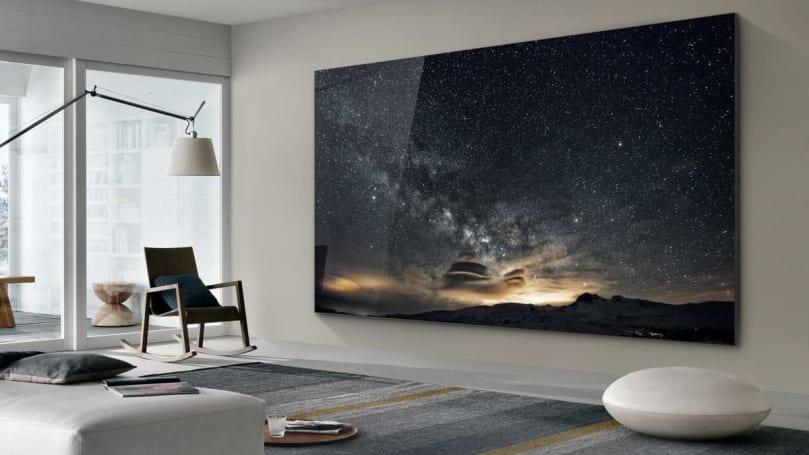 Samsung 在 CES 展示了採用 MicroLED 技術的 75 吋「The Wall」電視