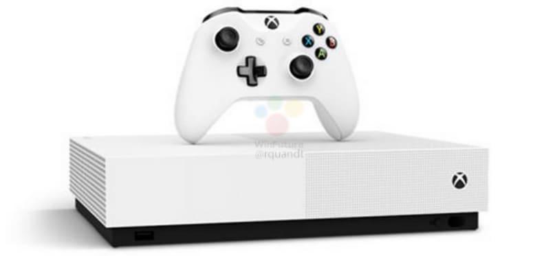 微軟的全數位版本 Xbox One S 可能是長這樣子