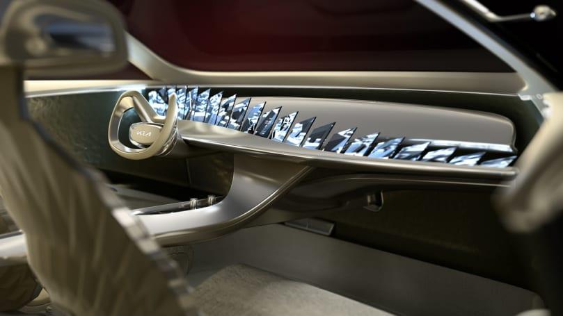 Kia 的「Imagine」概念電動車內裝顯示器大暴走