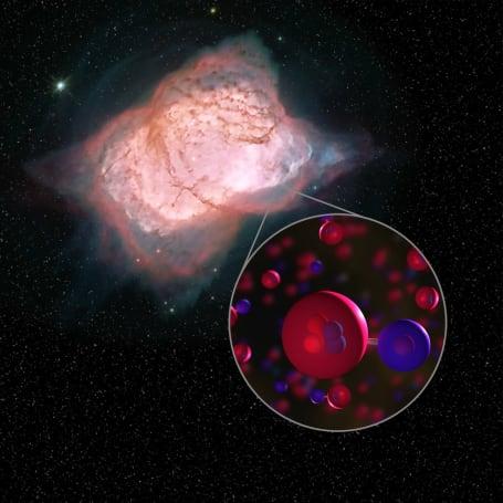 科學家發現了宇宙最早的化合物「氦合氫離子」存在於自然界的證據