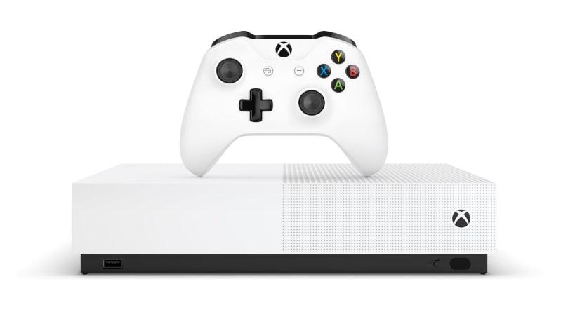 無光碟機版的 Xbox One S 預計 5 月 7 日登場,定價 250 美元