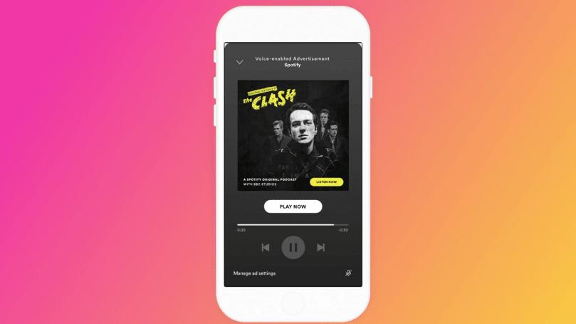 Spotify 在美国测试语音互动的广告