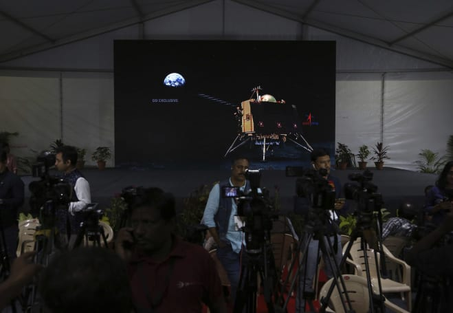 India's Vikram lunar lander lost contact during its descent