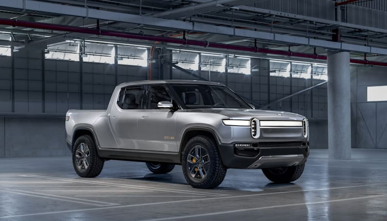 Automotive startup Rivian unveils an electric truck and SUV