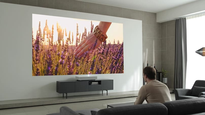 LG's Laser 4K beams a 120-inch picture from seven inches away