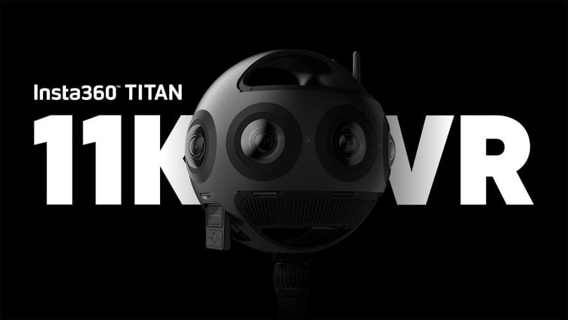 Insta360 Titan 是一款 11K 分辨率的八镜头 VR 相机