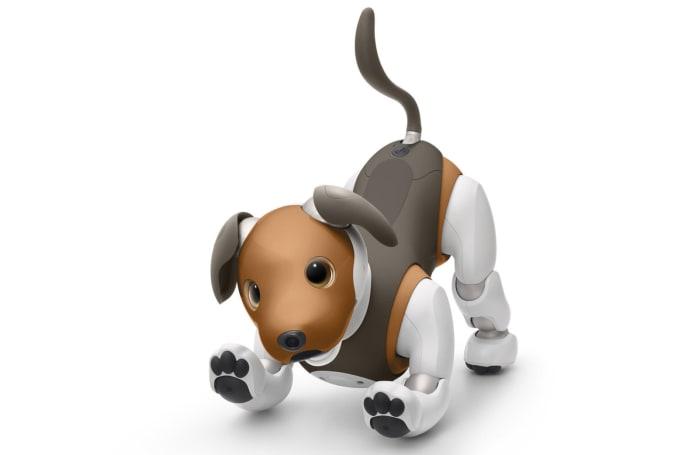 索尼的新 Aibo 机器狗看起来好像比格犬
