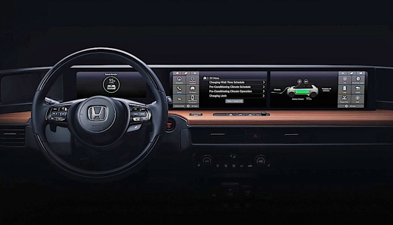 Take a peek at Honda's Urban EV dashboard