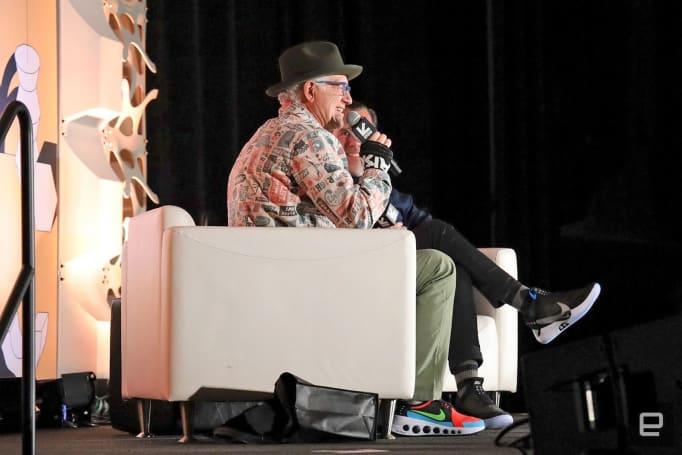 Nike designer Tinker Hatfield makes the case for self-lacing shoes