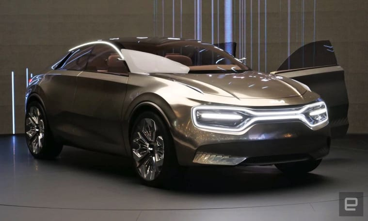 Kia goes wild with displays on its 'Imagine' concept EV