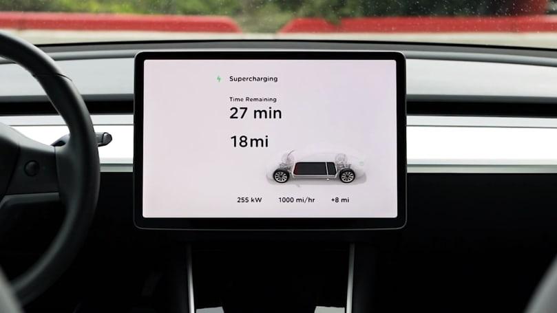 Tesla 的第三代 Supercharger 充電樁能進一步縮短充電時間
