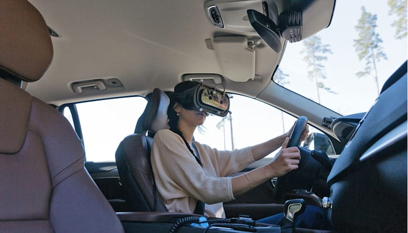 Volvo designers are driving around in mixed-reality headsets