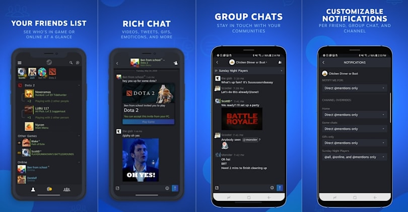 Now there's a dedicated Steam Chat app for Android and iOS