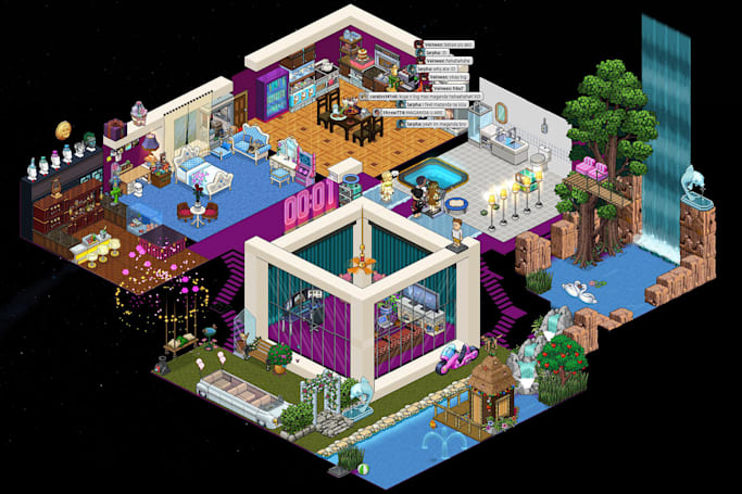 Wandering the quiet digital halls of Habbo Hotel