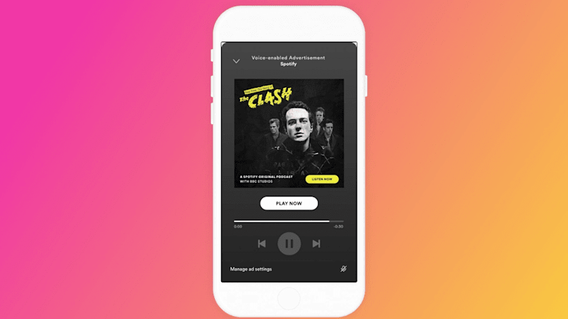 Spotify tests voice-enabled ads in the US