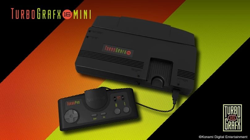 Konami's TurboGrafx-16 mini is ready to ride the retro-gaming wave