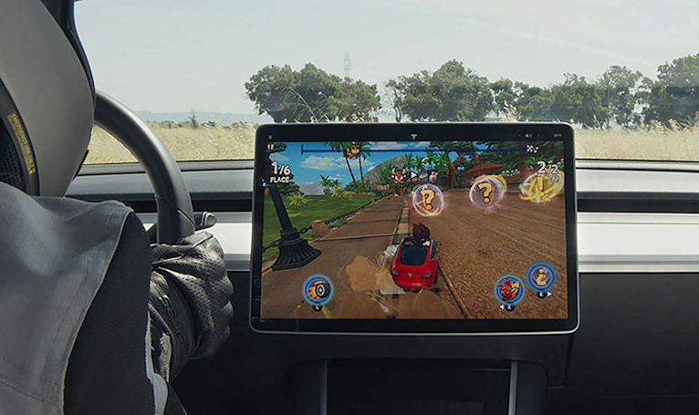 Tesla drivers can play 'Beach Buggy Racing 2' starting today