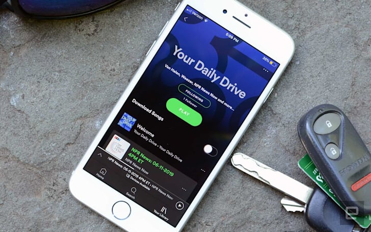 Spotify's latest playlist combines music and news for your commute