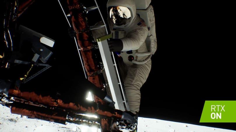 NVIDIA 给自己的阿波罗 11 号登月 demo 加上了 RTX 效果