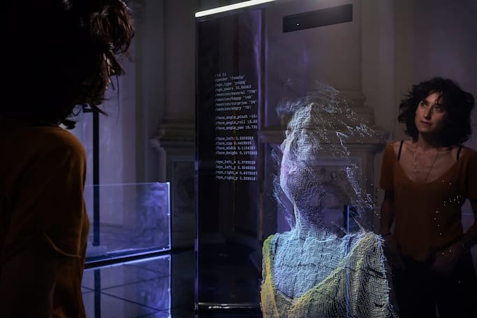 Facing your AI self at the 'Neural Mirror' art installation