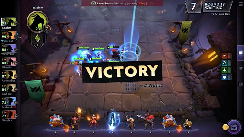 'Dota Underlords' beta tests its first battle pass