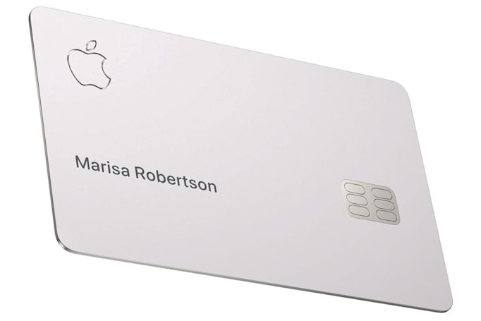 Apple warns against storing its titanium credit card in leather